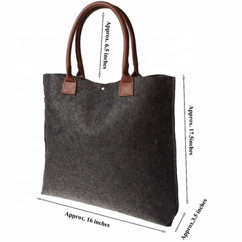 attractive design document wool felt bag