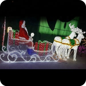 3d christmas lighting deer led lighted outdoor santa sleigh and deer