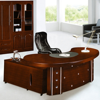 Professional office furniture half round european style semi circle 100% MDF executive office desk