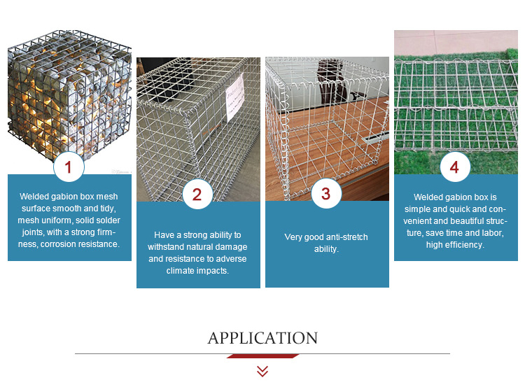 Best selling welded Gabion Box /stone cages/gabion retaining wall for garden fence for sale