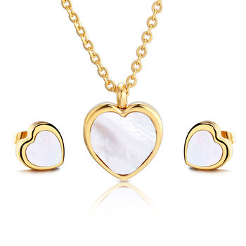 Beautiful Gold Heart Necklaces Themed Jewellery Pendant Earring Sets 18k Plated Jewelry