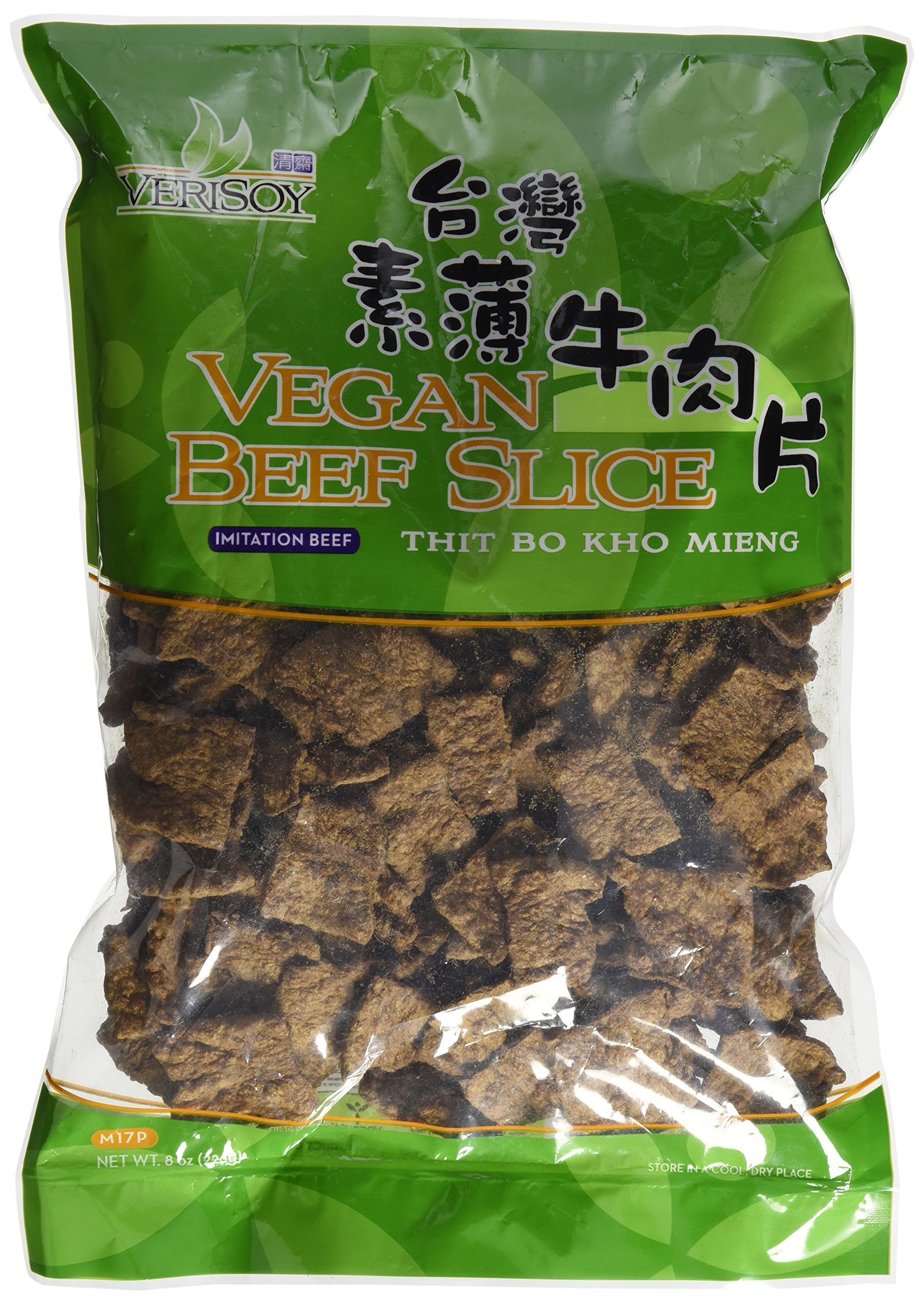 7 oz. Vsoy Meatless, Vegan Soy Textured BEEF SLICE, Soy Protein , Vegetarian Meat Substitute, Unflavored