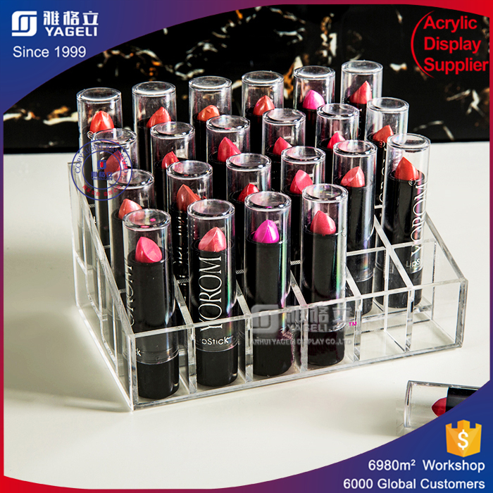 Clear acrylic display acrylic lipstick holder palstic lipstick table stand