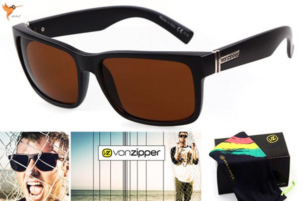 1e93130c3c Get Quotations · High quality Von Zipper Sunglasses Men Retro Sports Glasses  Vonzipper ELMORE oculos de sol masculino gafas