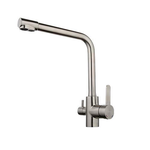 GAPPO 1 комплект, высокое качество, кухонный смеситель из нержавеющей стали, кран для холодной и горячей воды, фильтр с двойной ручкой, кухонный...(Китай)