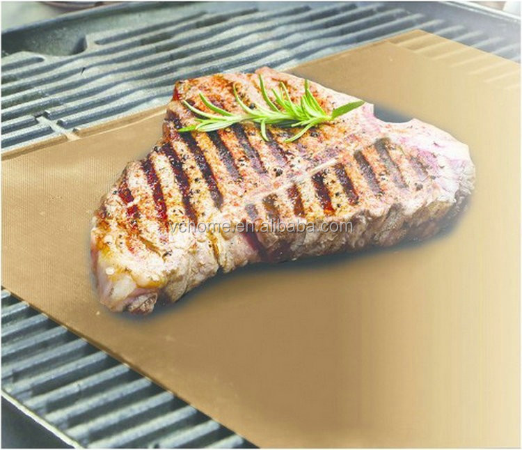gold picnic bbq grill mats copper baking mats reusable non-stick oven liner