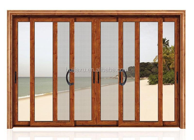 Garage in alluminio scorrevole schermo interno griglia porte scorrevoli di vetro netto porta id - Griglia regolabile protezione finestre ...
