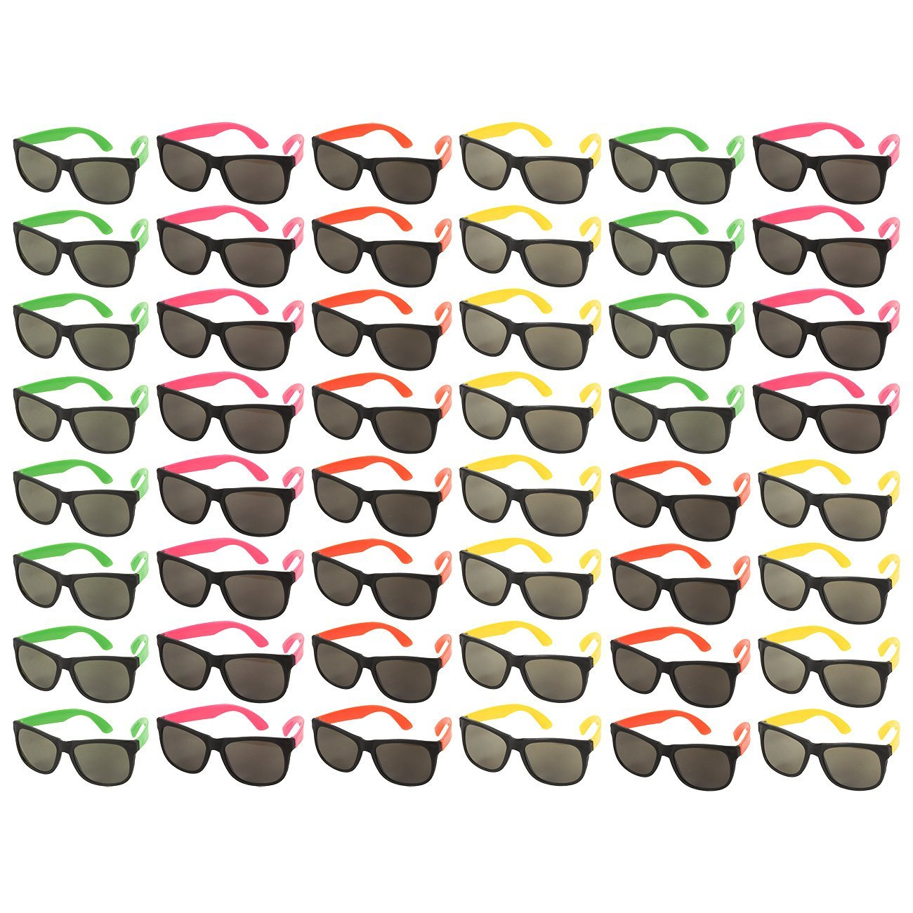 c20905ca619 Get Quotations · 48-Pack Party Glasses - 80s Party Favors