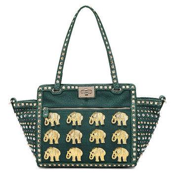 Fashion Bright Color Leather Luxury Handbag Elephant Handbags 2017