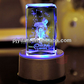 Nice 3d Glass Cube Laser Engraver Crystal Wedding Gift 3d Glass Cube