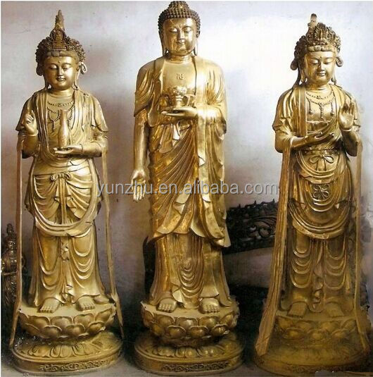 large size brassbronze standing buddha statue for sale