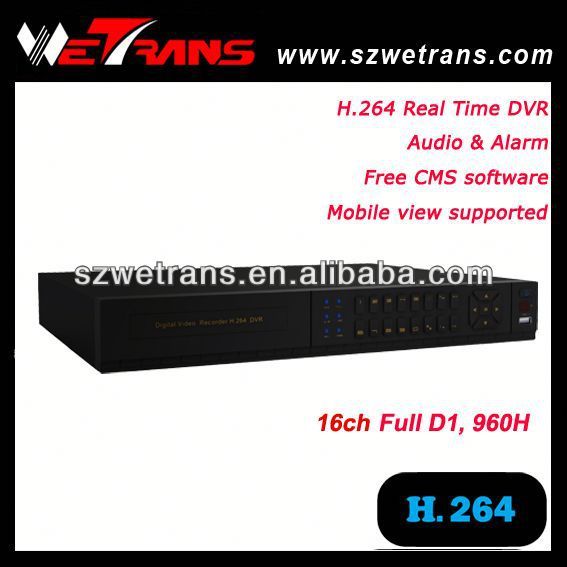 WETRANS TD-5416E H.264 real time 16 ch dvr card