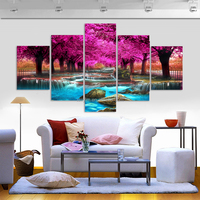 5 Panel HD Printed Stars and Snow Landscape Painting Modern Planet Canvas Prints Wall Picture Home Decor