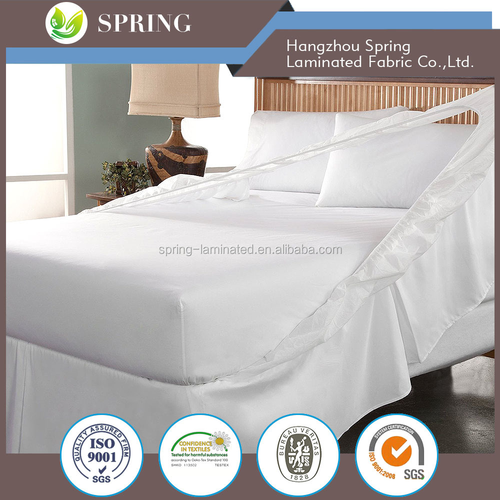 10 Year Warranty Anti Asthma Machine Washable Temble Dry Mattress Cover, Mattress Pad For Home Bedding