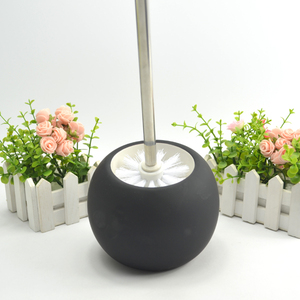 Wholesale Black Ceramic Rubber Paint Toilet Brush Holder