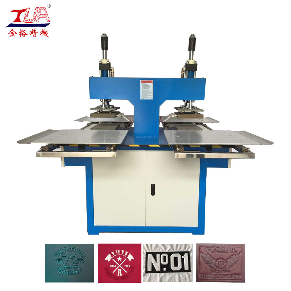 Dongguan Semi embossed clothes press manual making machine