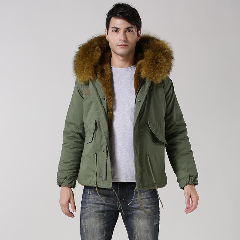 2017 Mens Short Mility Green Waterproof Shell Cool Wear In Winter ...