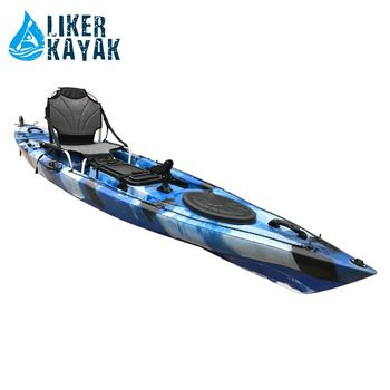 New style Single Fish Kayak Sit On Top Fish Kayak with pedals