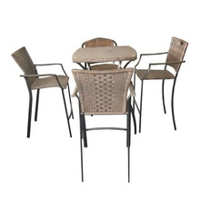 Nieuwe designer outdoor tiki sets restaurant club pub <span class=keywords><strong>meubels</strong></span> tafel rotan patio bar set
