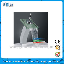 2012 new bathroom color changed no battery led faucet mixer