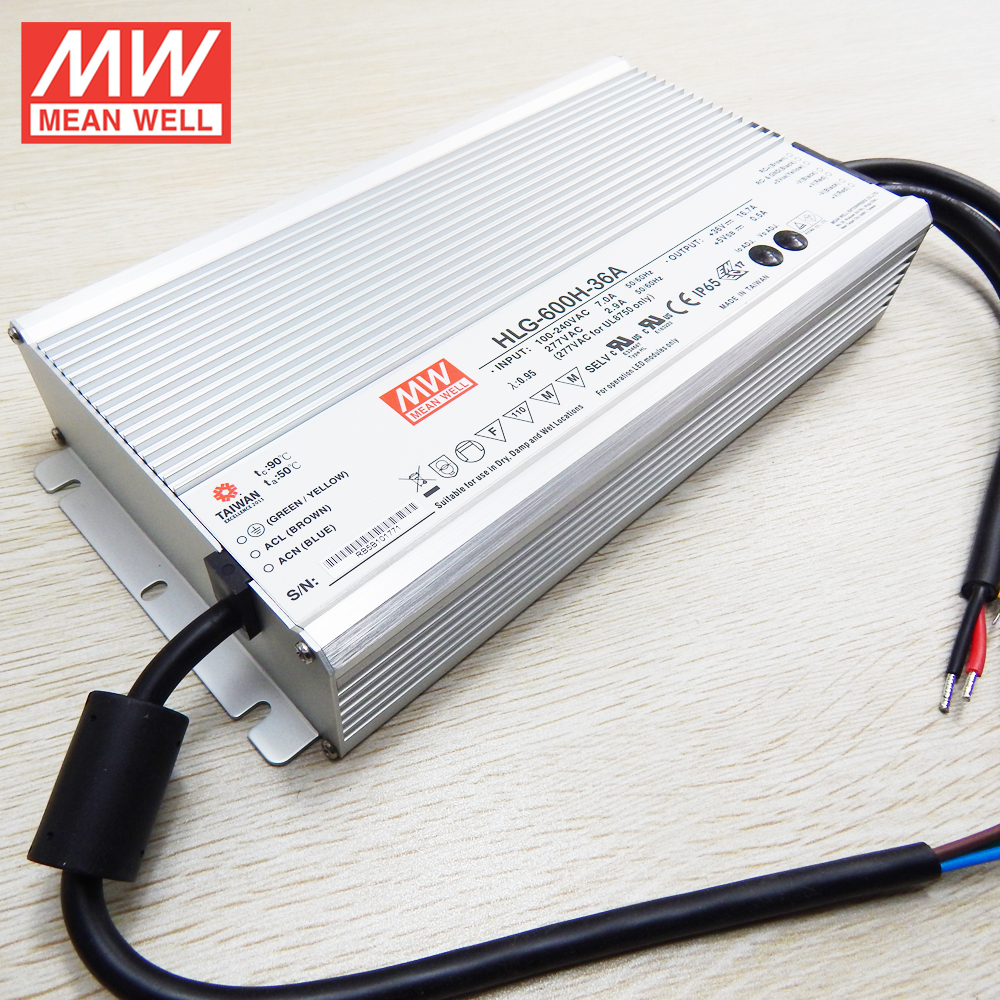 6w to 600W range IP65 IP67 waterproof MEAN WELL 500w led driver HLG-600H