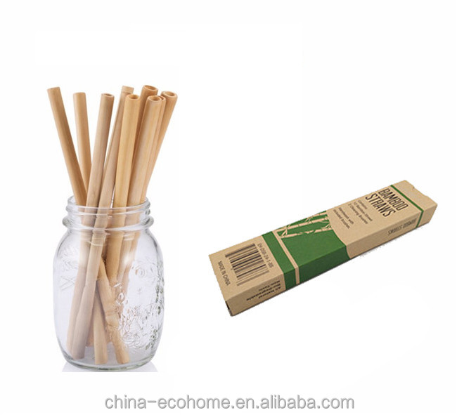 Factory directly set of 12 box packing bamboo drinking straws