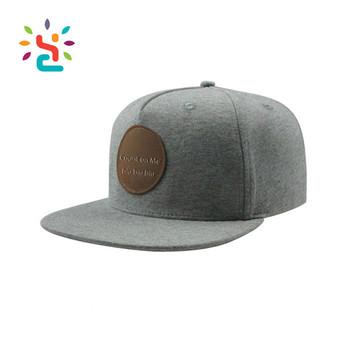 6cdb009e4e5 Custom Leather Patch Logo Snapback Hats Wholesale Blank Trucker Hat New  Flat Bill Snapback Cap Era