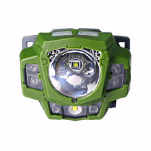Most powerful red led hunting light mini spot laser fishing headlight waterproof led headlamp flashlight