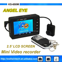 "KS-750A 2.5"" Angel Eye Mini Portable Video Recording System Hidden Button DVR Video Recorder MPEG-4 DVR"