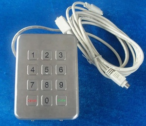 12 keys IP 65 metal industrial desktop vandal proof backlight keypad