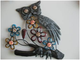 OWL-SHAPE METAL WALL DECORATION