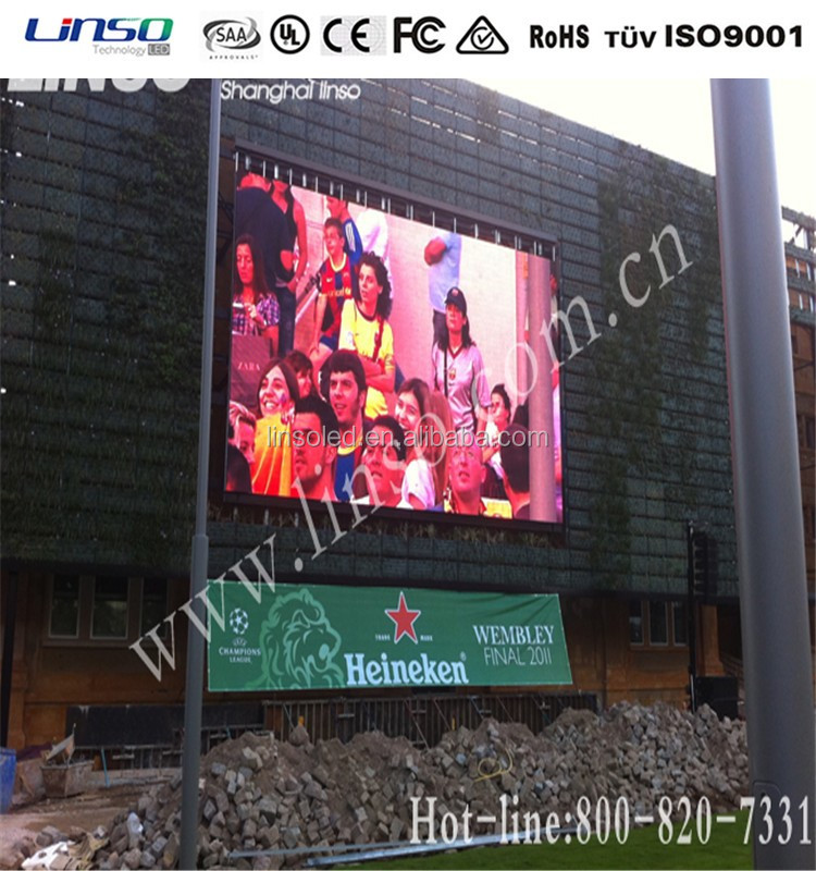 Outdoor Full Color DIP346 P10 LED Display, RGB 3 Colors Video Display Function 10mm LED Advertising Sign Board