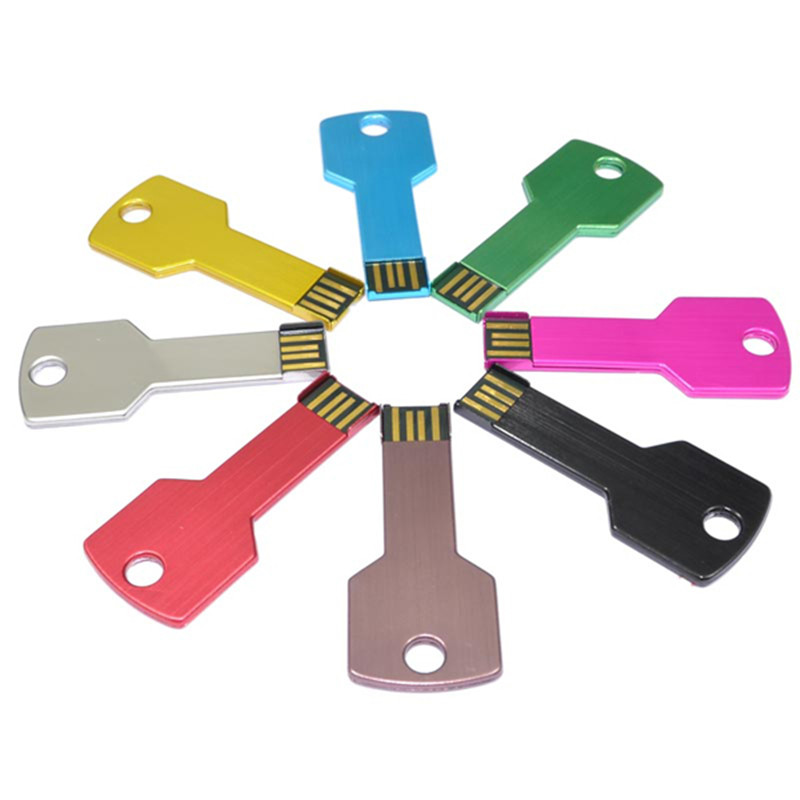 Full colors cheapest tiny small key shape bulk lot 32 gb 16 gb 8 gb usb flash drive 10 pack