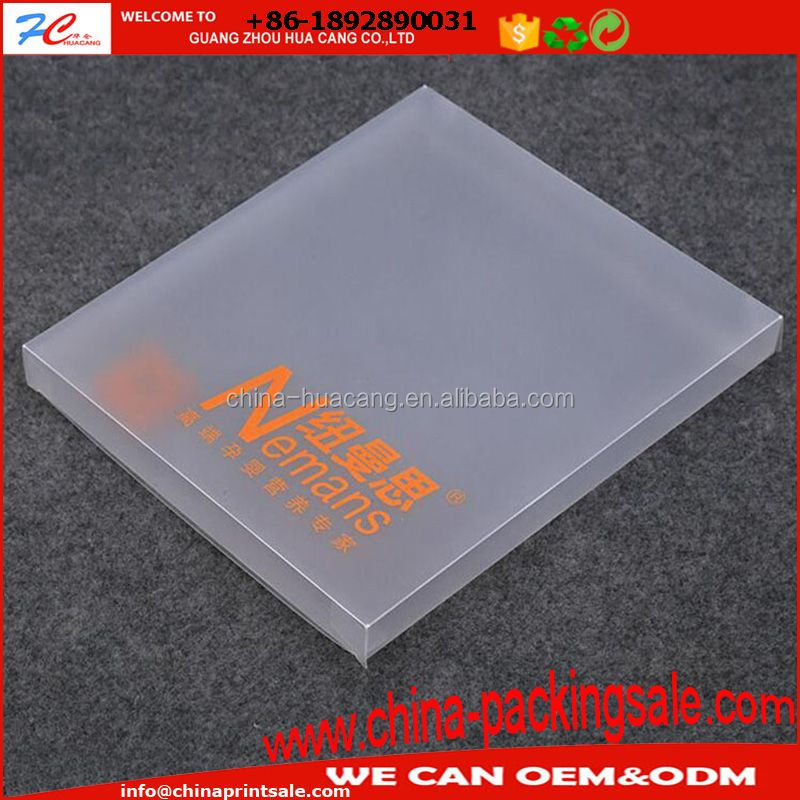 PVC/PP/PET transparent or frosted box for color souvenir album, photo and mask