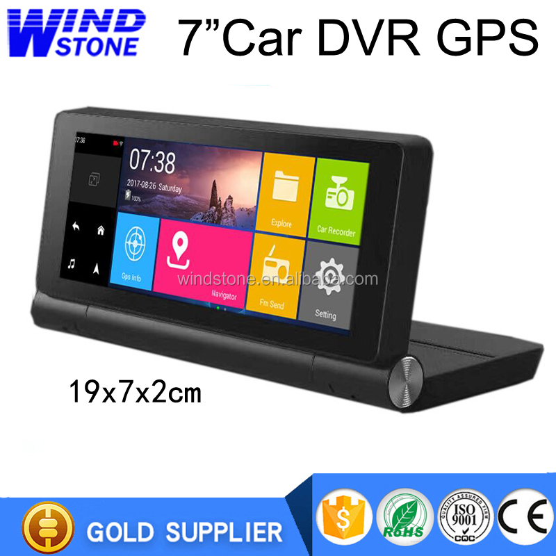 All in One 7 inch Car DVR AV IN Android GPS Navigation WIFI Bluetooth Rearview camera