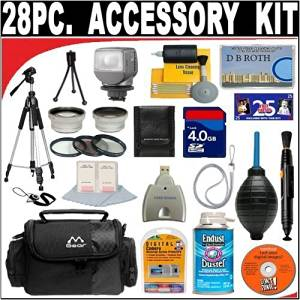 28 PC ULTIMATE DELUXE DB ROTH ACCESSORY KIT FOR THE CANON VIXIA HF100 FLASH MEMORY HIGH DEFINITION CAMCORDER AND FOR THE CANON VIXIA HF10 FLASH MEMORY HIGH DEFINITION CAMCORDER + BONUS Gift = Waterproof Camera = Great For Kids