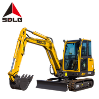 SDLG 3 ton stand up mini excavator small size construction machinery equipment