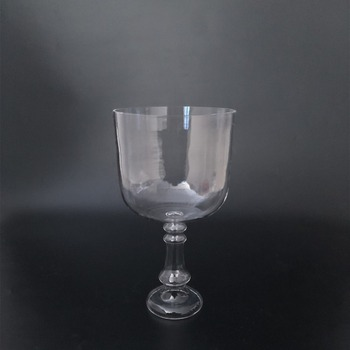 SUCCESS Sound Healing Clear Crystal Chalice,Transparent Crystal Singing Bowl