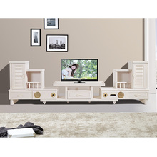 popular desgin white touch display TV cabinet With Showcase