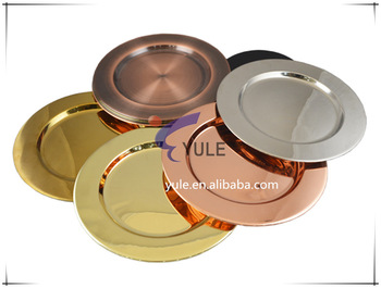 Wholesale 13 inch gold plate chargers for wedding decorative