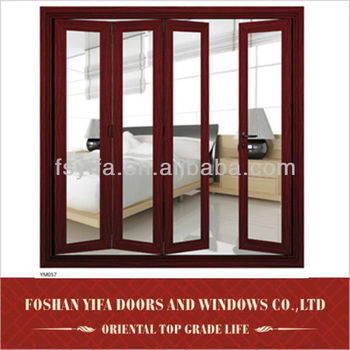 aluminum large glass folding interior doors prices
