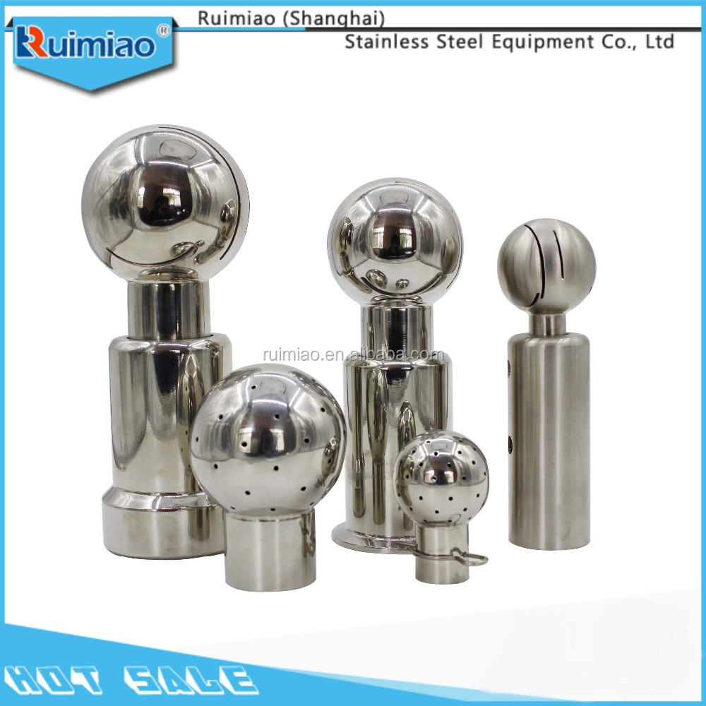sanitary stainless steel rotary spray ball