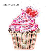 factory wholesale various designs birthday iron on rhinestone transfer for t-shirt
