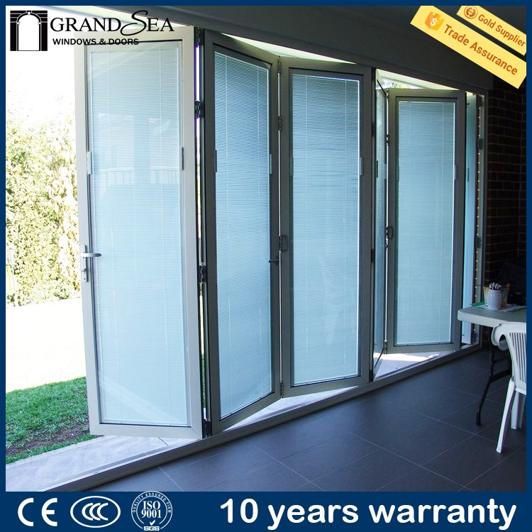 Residential used sliding patio blinds mauritius aluminum bar profile for window door for gate