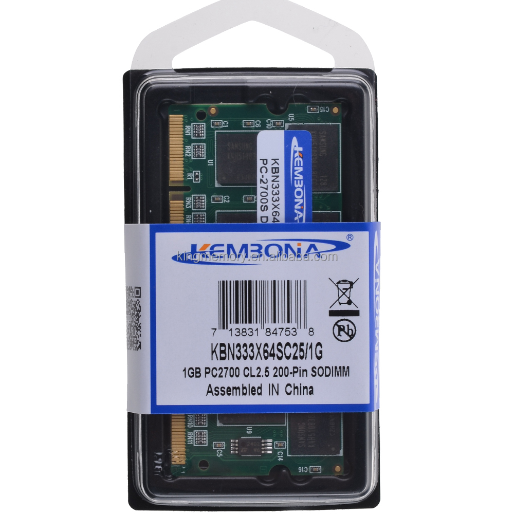 free <strong>DHL</strong> shipping bulk price laptop ddr1 1gb ddr1 1g 333mhz pc2700 cl3 ram memory