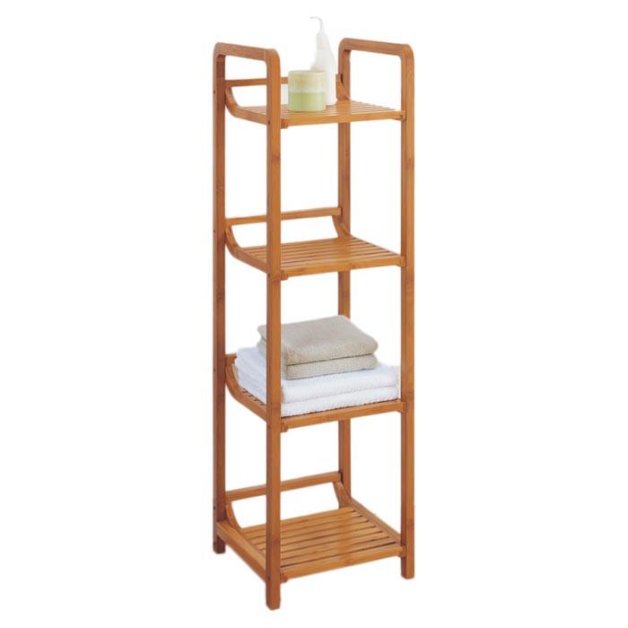 3 Tier Wooden Bamboo Bathroom Towel Shelf