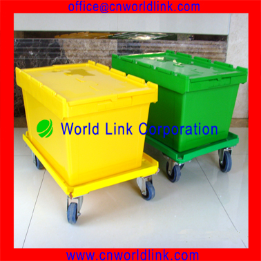 With Match Skate Stackable Plastic Rolling Storage Bins