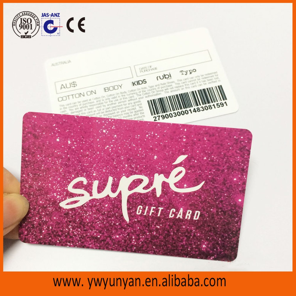 Free Design Free Sample Plastic Loyalty Card/ PVC Gift VIP Card/ Plastic Membership  Card  Membership Card Samples