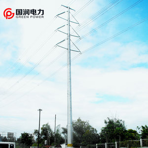 230kV Galvanized Steel Tube Tower Pole Our Project In Philippines