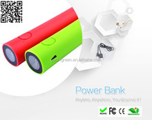 led torch powerbank, protable charger 3000mah for mobile phone